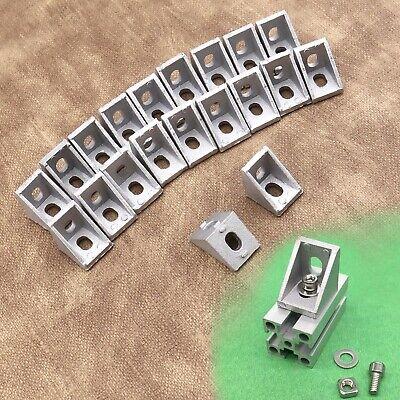 20pcs Aluminum T-slot Corner Bracket Profile Corner With 6mm Holes For M5 Screws