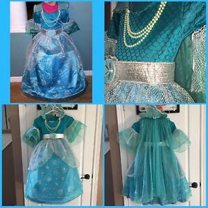 Size 5-6 ocean princess costume