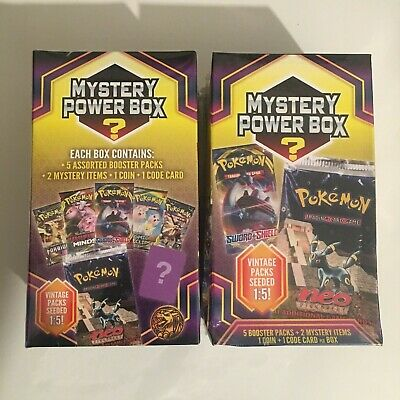 2X NEW Pokemon Mystery Power Box 1/5 Chance At Vintage Pack SHIPS FREE NOW