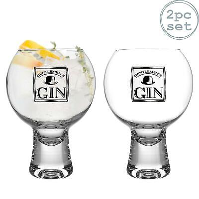2x Ikonic Gentlemen's Gin Glasses Short Stem Spanish Balloon Copa de Balon 540ml