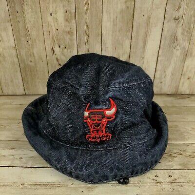 Chicago Bulls New Era NBA HWC demin Bucket Hat Cap Medium