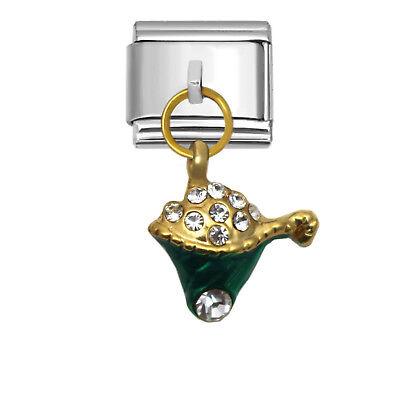 Christmas Gift Basket Italian Charm 9mm Stainless Steel Link for Bracelets XD974