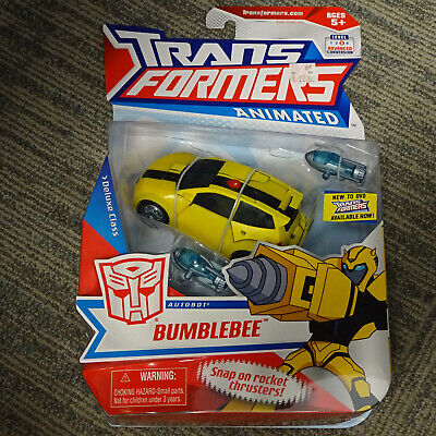 2007 Hasbro Transformers Animated Deluxe Class Autobot Speedster Bumblebee