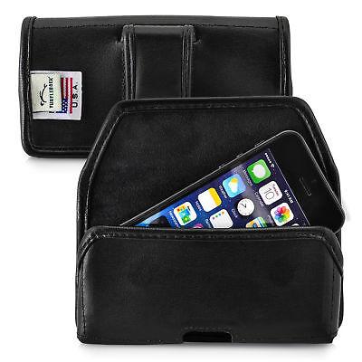Apple iPhone SE 5 5S 5C Holster Black Belt Clip Case Pouch Leather Turtleback