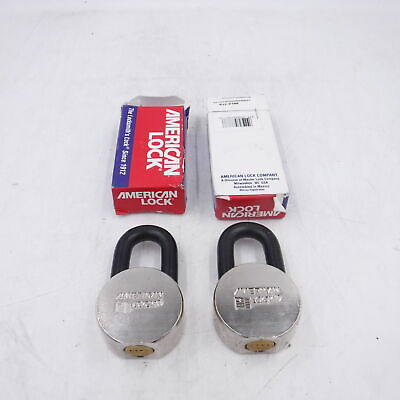 No Keys Lot Of 2 American Lock Ah10ka Padlock Key D188