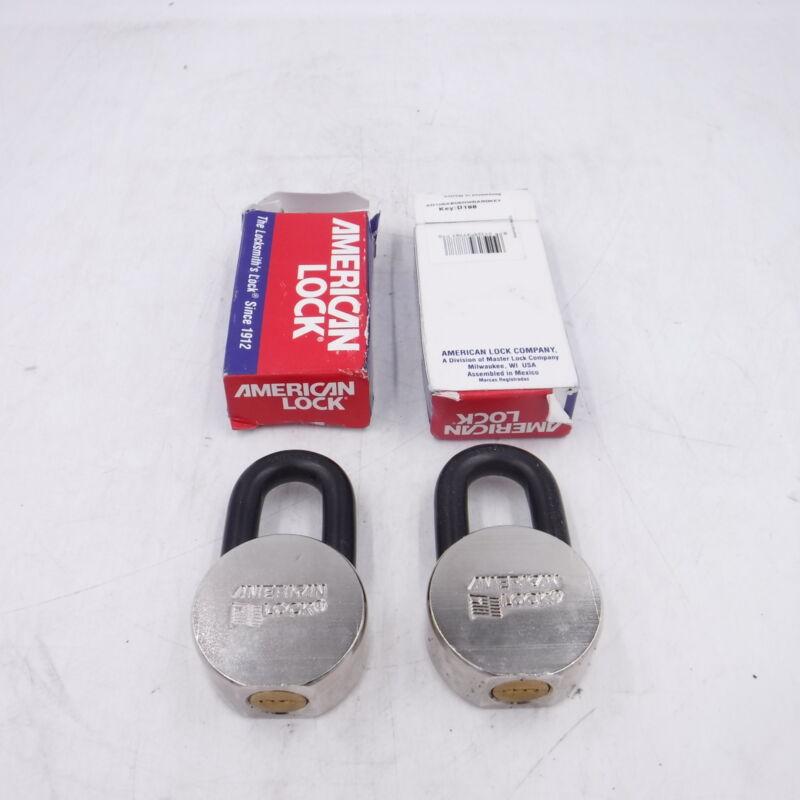 NO KEYS Lot of 2 American Lock AH10KA Padlock Key D188