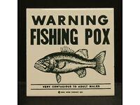 WARNING FISHING POX  LOGO COLLECTOR MARBLE
