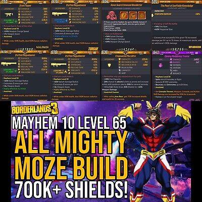 Borderlands 3 Xbox - Level 65 Mayhem 10 All Mighty Moze Build...