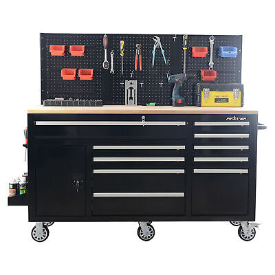 Tools Cabinet Chest Organizer 10-Drawer Mobile Work Station Heavy Duty Workshop
