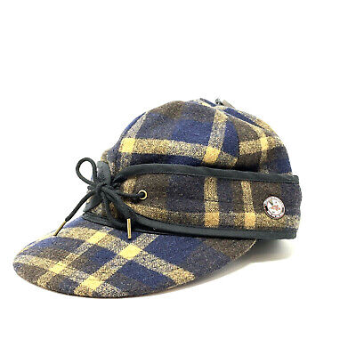 28c66a7177b Vans Anti Hero Plaid Hat S M Small Medium Blue Fud Baseball Cap New
