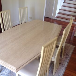 REDUCED Dining Suite Travatine