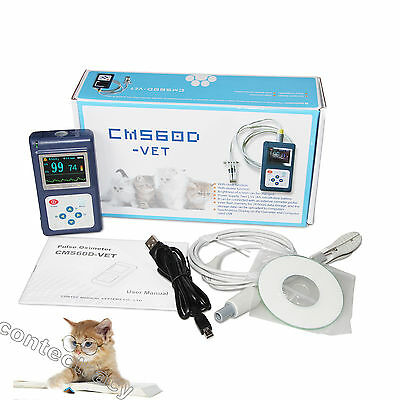 Handheld Veterinary Pulse Oximeter With Tongue Spo2 Probepc Software For Dog