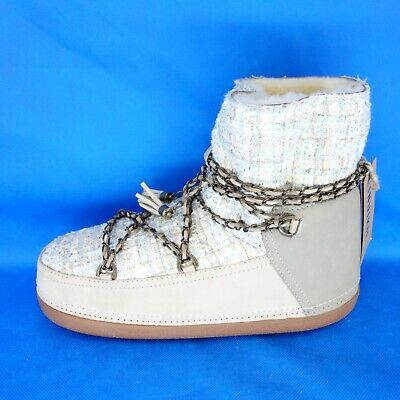 Inuikii Ladies Shoes Boots Lambskin Shearling Lady Low 42 41 Np 279 New