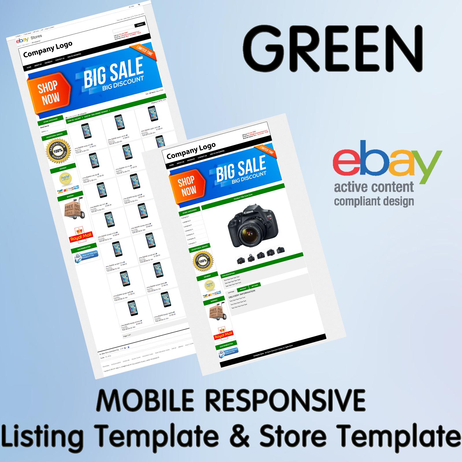 Ebay Template Store Design Listing Responsive Custom Professional - Free responsive ebay template
