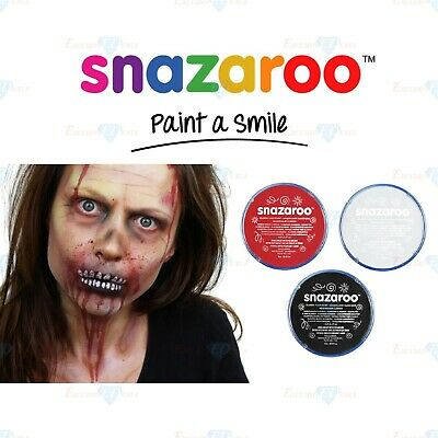 Snazaroo Face Paint Halloween (Snazaroo Face Paint Body Paint Make Up Zombie Scary Halloween Black White &)