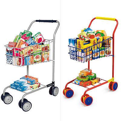 Einkaufswagen für Kinder mit 60 tlg. Zubehör für den Kaufladen