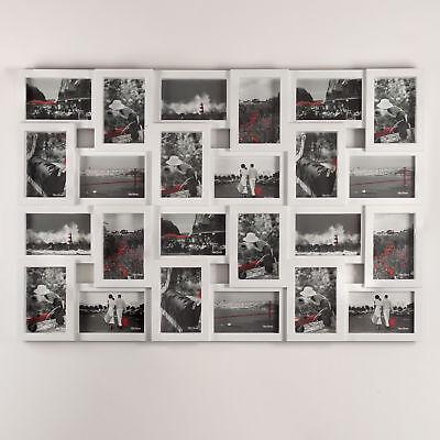 XXL Bilderrahmen Fotorahmen für 24 Bilder Fotos weiß Portraitrahmen Collage groß (Große Kunststoff-bilderrahmen)