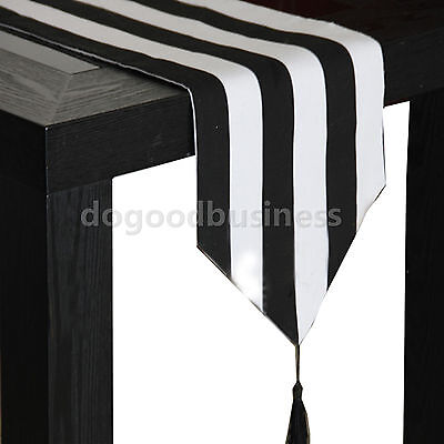 Table Striped (Striped Pattern Table Runner Cover Chevron Polyester&Cotton Zigzag)