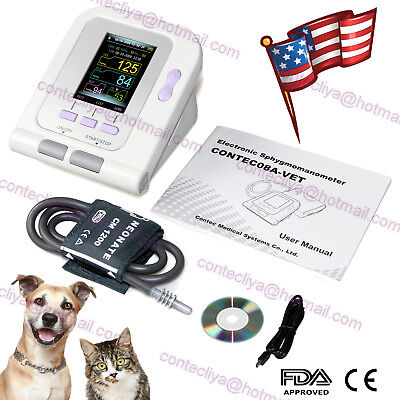 Vet Veterinary Oled Digital Blood Pressure Heart Beat Monitor Nibp Contec08a