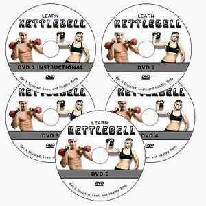 LEARN KETTLEBELL TRAINING EXERCISES PROGRAM DVD FOR WORKOUT LOSE WEIGHT FAT LOSS