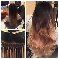HAIR EXTENSIONS! CHOOSE TAPE INS OR FUSION!
