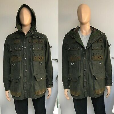 Barbour MILITARY YOSHIDA TOKITO TO KI TO Jacket Coat Olive Waxed Wax Large L 40