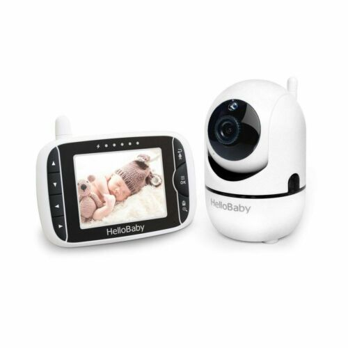 HelloBaby HB65 3.2 inch Baby Monitor with Remote Night Vision (Black)