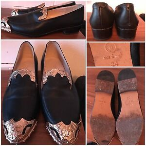 Black leather Chanel brogues flats shoes gold  size 24 36 6 5 5.5 35.5 Cronulla Sutherland Area Preview