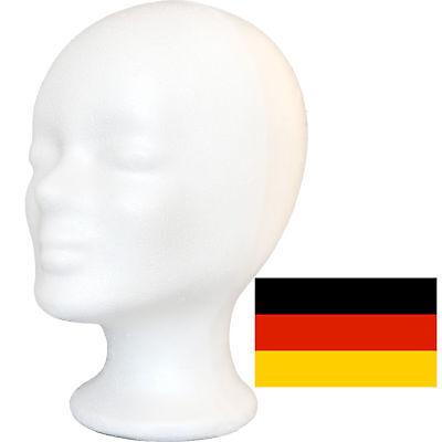 Styroporkopf Perückenkopf Dekokopf - TOP deutsche Marken-Qualität - PORTOFREI