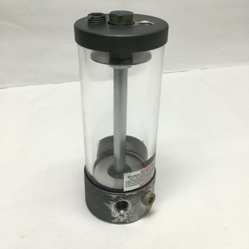 """Lube Devices LDI A/OR1018-2 Air Over Oil Reservoir 14in³, 2.5"""" x 6.6"""", 1/4"""" NPT"""
