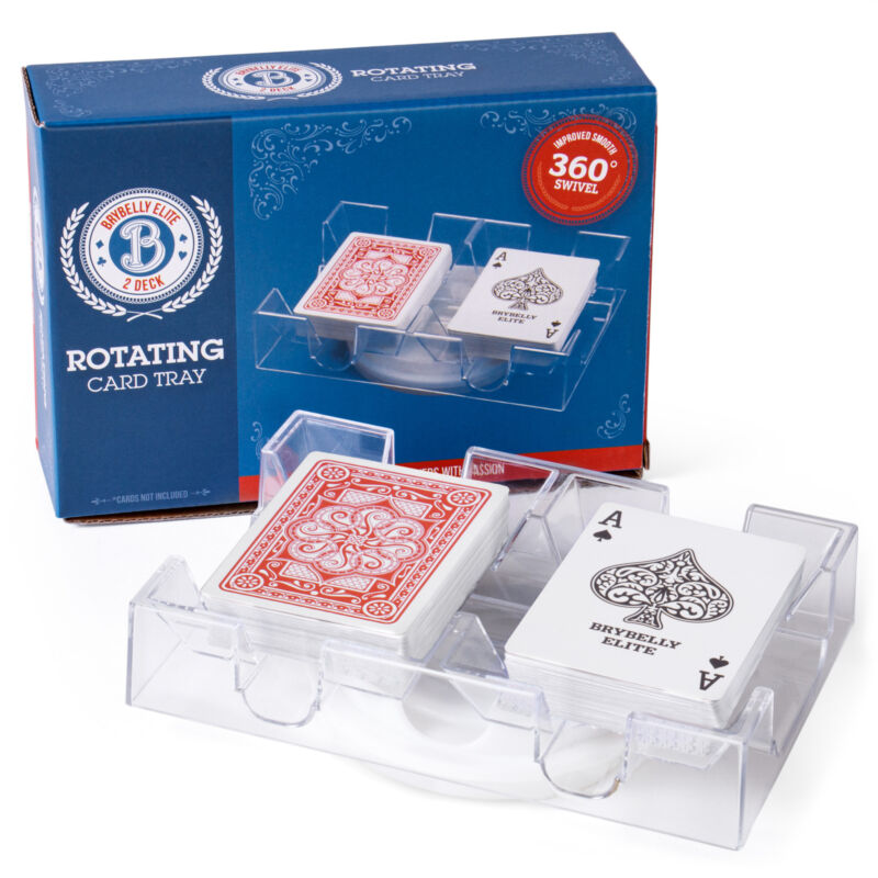 Brybelly Elite Rotating Card Tray, 2-Deck 9533