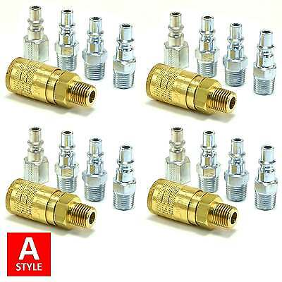 20pc Quick Coupler Set Air Hose Connector Fittings 14 Npt Tools Plug Compressor