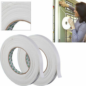 Pack of 2 x Foam Draught Excluder Tape Draft Seal Strip Insulation Door Window