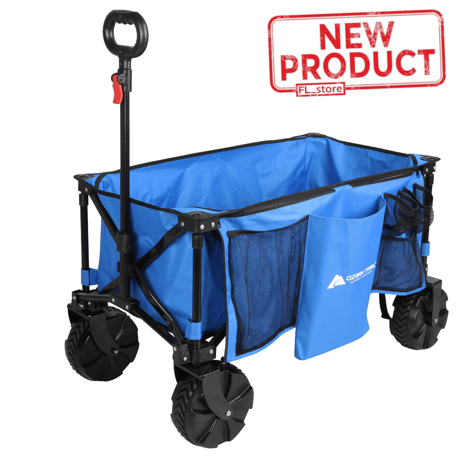 Wagon Folding Cart Oversized Wheels All Terrain Camping Beac