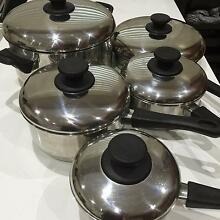 Arcosteel 5 piece stainless steel saucepan set Lane Cove Lane Cove Area Preview