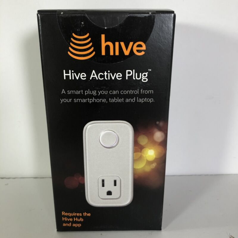 Smart Home Hive Active Plug White Single Plug-In Outlet 15 amp NEW SEALED