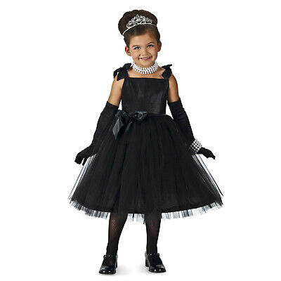 Child Movie Star Halloween Costume (Child Girl's Movie Star Silent Film Actress Halloween Costume Black Dress XS)