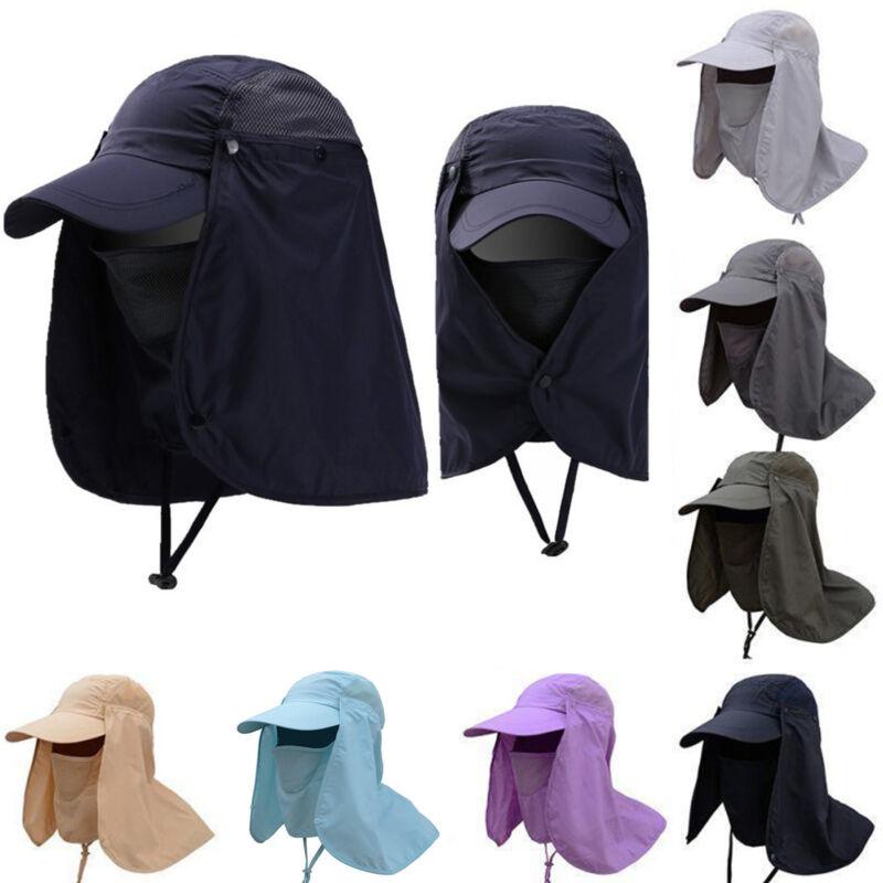 Sonnenhut Mütze mit Nackenschutz Damen Herren Fischerhut Baseball Cap Basecap