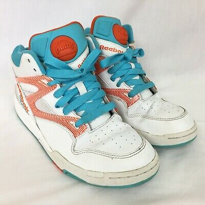 - Reebok The Pump Hexalite High Top Sneakers Mens 8 Retro 80s White Blue Orange