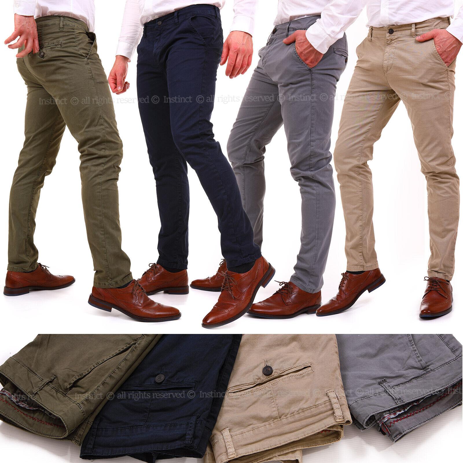 Pantaloni da uomo chino slim fit elasticizzati eleganti invernali eleganti 54 56