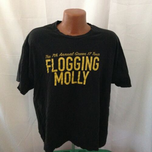 Flogging Molly 7th Annual Green Tour 2011 Band T-shirt XXL concert punk irish