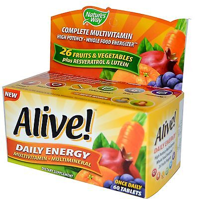 (Alive! Daily Energy Multi-Vitamin & Mineral - 60 Tablets by Nature's Way)