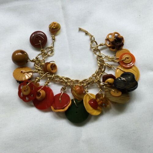 Bakelite Button Bracelet - Great Variety and Color - Price Reduced