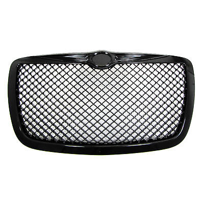 Grille Sports Grill Grille Front Grill without Emblem Black for Chrysler 300C