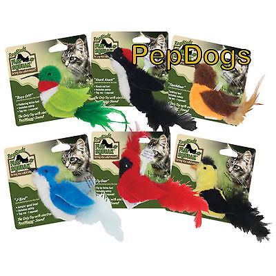 Play-N-Squeak Real Birds Catnip Cat Toy RealBirds Real Mouse Sound CATS GO CRAZY](Crazy Bird)