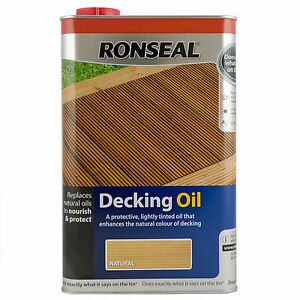 Ronseal Decking Oil - 5 Litres - 28% OFF High Street Prices! - Natural