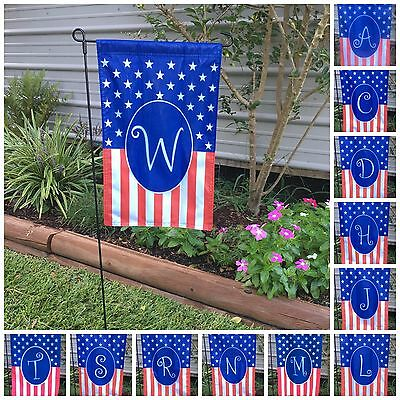Monogrammed Holiday Small Garden Flag 4Th July  Usa America Gift Home 12X19