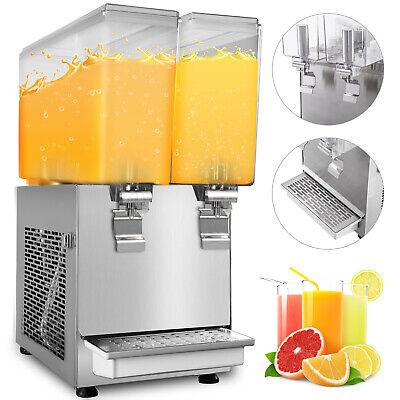 Commercial Juice Beverage Dispenser 150w 6.3 Us Gal Cold Drink Machine 2 X 12l