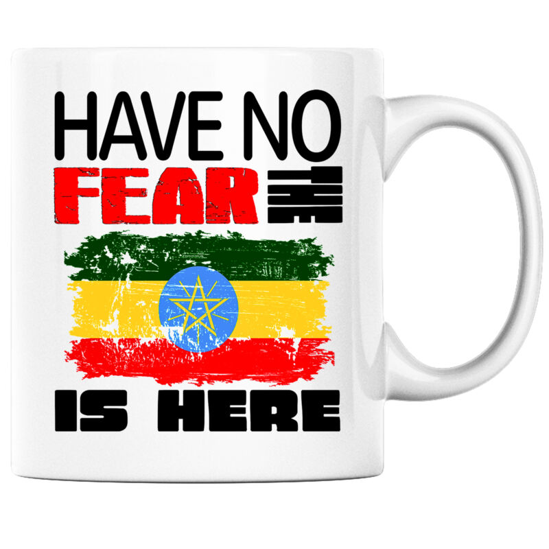 Have No Fear the Ethiopian is Here Funny Coffee Mug Ethiopia Heritage Pride