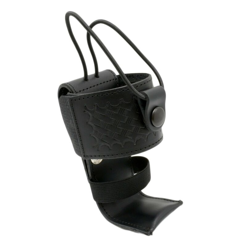 Perfect Fit Basketweave Adjustable Universal Radio Holder Leather USA Made